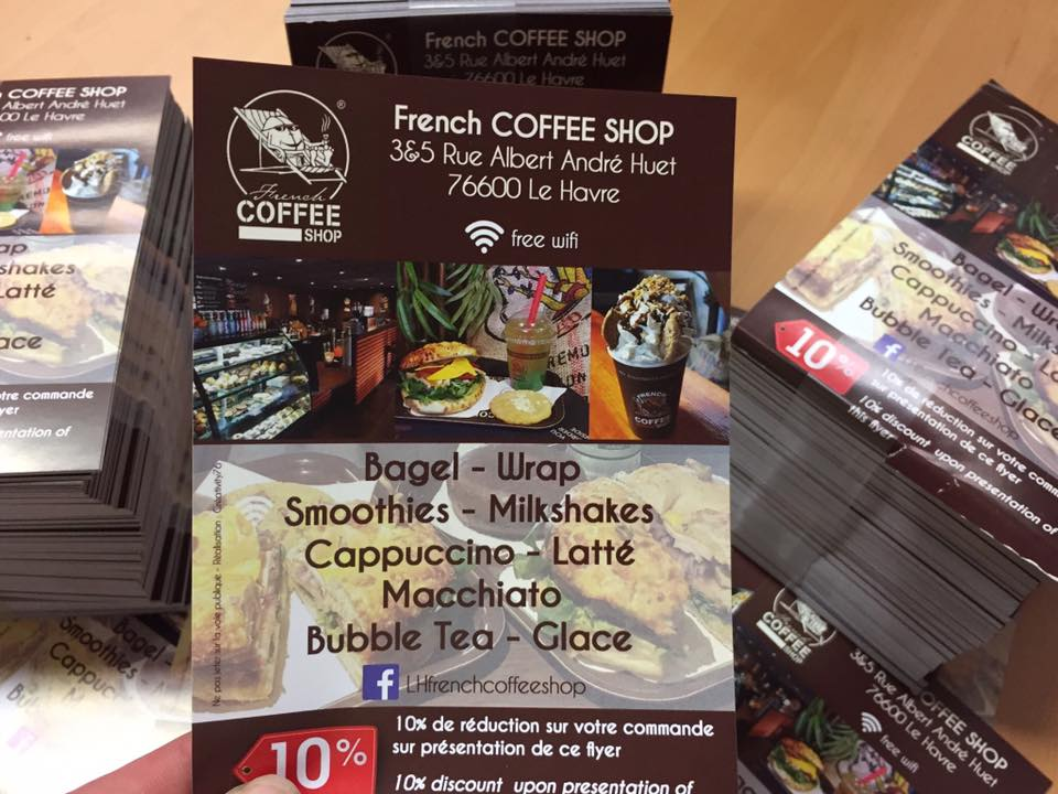 Flyers pour French Coffe Shop