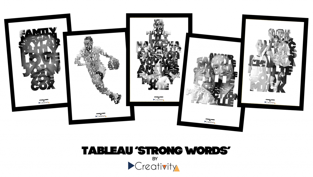 Tableau 'Strong Words' by Creativity !